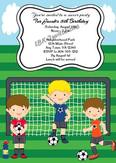 Soccer Birthday Party Banner Futbol Printable Personalized
