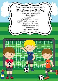 soccer birthday party invitation birthday party invitations invitations and party invitations - Soccer Party Invitations