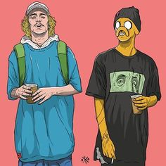 Geek Discover Jake the dog and Finn the human But they& all human Adventure Time! Dope Cartoons, Dope Cartoon Art, Swag Cartoon, Cartoon Cartoon, Arte Dope, Dope Art, Stoner Art, Supreme Wallpaper, Dope Wallpapers