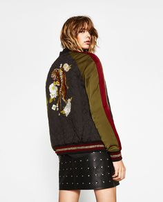 Image 1 of TIGER EMBROIDERED BOMBER JACKET from Zara