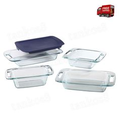 Pyrex-Baking-Set-4-Pc-Easy-Grab-Glass-Cooking-Kitchen-Serving-Microwave-Oven