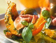 Gebackener Kürbis mit Mandel-Pistazien-Pesto  Rezept
