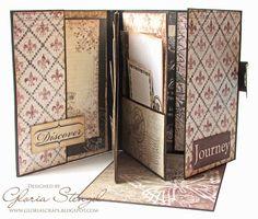 Scraps of Life: Heartfelt Creations Wednesday -Postcard Rose Mini Album Full pictorial tutorial