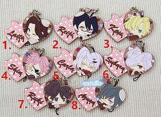Diabolik Lovers Sakamaki Laito Tsukinami Carla Shin Heart Keychain Keyring Strap