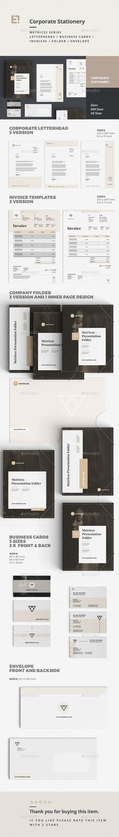 Stationery  InDesign Template • Download ➝ https://graphicriver.net/item/stationery/17107590?ref=pxcr
