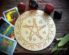 Samhain broom altar tile Samhain altar paten Samhain altar   Etsy Wiccan Decor, Pagan Altar, Samhain, Witchcraft Symbols, Yule Decorations, Wooden Easel, Sabbats, Beltane, Pentacle