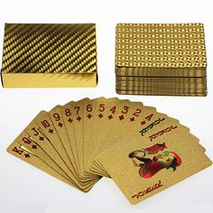24K Gold-Foil Poker Plated Playing Cards Poker 5 sets lot wholesale