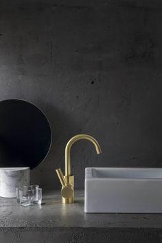 A67.03 Icon + Lever Basin Mixer Urban Brass