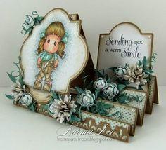Sending You a Warm Smile - GDT Card for Crealies