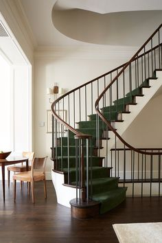 Stairs - Rita Konig designs interiors for a client with a love of minimalism but who also wanted their Manhattan home to 'feel like living in a country house'. Real Homes on HOUSE by House & Garden.