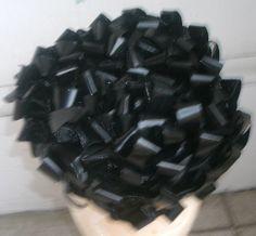 Vintage 1940s Black Rafia Bows Tilt Topper Headpiece by Flashbax, $20.00