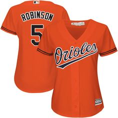 Women's Majestic Baltimore Orioles #5 Brooks Robinson Authentic Orange Alternate Cool Base MLB Jersey Up to 50% Off Jerseys & Footwear