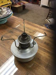 Vintage 1960s Model 21C Aladdin Caboose Lamp Aluminum w Tripod Kerosene | eBay