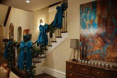 How to decorate a staircase for christmas - Little Piece Of Me