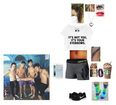 """""""Hanging with the Guys."""" by tyviereck ❤ liked on Polyvore featuring NIKE, Pandora, OPI, Sonix and Fitbit"""