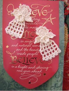 Makes up quick! A tiny Christmas Angel and a free pattern for you. Thanks, BellaCrochet!