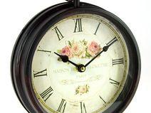 Zegar metalowy retro do postawienia