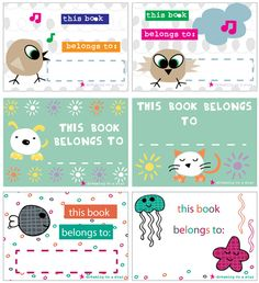 FREEBIE - Dreaming on a Star's super fun book labels. Brighten up your school/college books with some cute & quirky book labels! Free Printable Stickers, Templates Printable Free, Printable Labels, Free Printables, Name Tag For School, Diy Paper, Paper Crafts, Chinese New Year Dragon, College Books