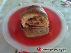 Γλυκό ψωμάκι με μερέντα και φουντούκια