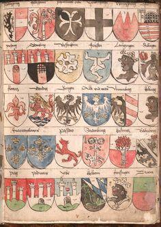 Wernigeroder (Schaffhausensches) Wappenbuch Süddeutschland, 4. Viertel 15. Jh. Cod.icon. 308 n  Folio 259r