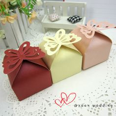 2013 Butterfly pearl square wedding candy box free shipping-in Event & Party Supplies from Home & Garden on Aliexpress.com