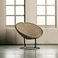 40 Interesting Things You Can DIY With Rope. ** Recycle Iron chairs - plastic seating has perrished :)