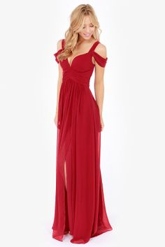 Bariano Ocean of Elegance Wine Red Maxi Dress at LuLus.com! i would wear this to my graduation