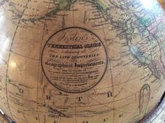 Collecting Antique Globes Vintage Globe, Latitude Longitude, Globes, Astronomy, Antiques, Celestial Sphere, Polka Dots, Antiquities, Antique