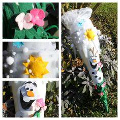 Disney Frozen DIY Olaf Schultüte, Sommer im Winter, aus Filz, Tüll, Papier und viiiiel Liebe Disney Frozen Olaf, Disney Diy, Winter, Baby, Paper, Crochet For Kids, Entering School, Day Care, School