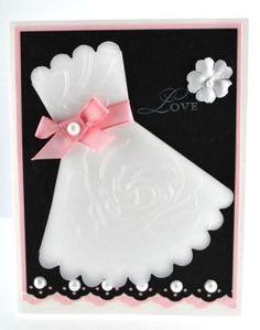 , Idea For Homemade Wedding Invite Cards: 20 ideas of homemade wedding invitation Bridal Shower Decorations, Bridal Shower Favors, Bridal Shower Invitations, Cricut Invitations, Wedding Shower Cards, Wedding Cards, Wedding Bells, Homemade Wedding Invitations, Dress Card