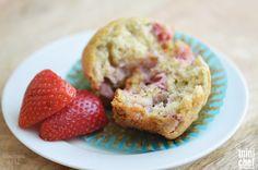 Strawberry Banana Muffins for Breakfast
