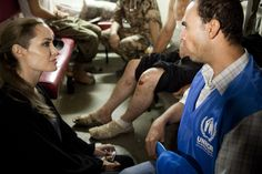 #UNHCR Special Envoy Angelina Jolie in #Jordan.  J Tanner/UNHCR