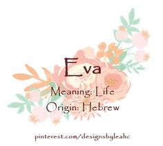 Baby Girl Name Eva Meaning Life Origin Hebrew girl names girl names 19 Girl Names elegant Girl Names rare girl names vintage Girl Names with meaning Hebrew Girl Names, Boy Names, Names Baby, Biblical Names, Baby Girl Names Elegant, Girls Names Vintage, Baby Boy Themes, Girl Themes, Girl Names With Meaning