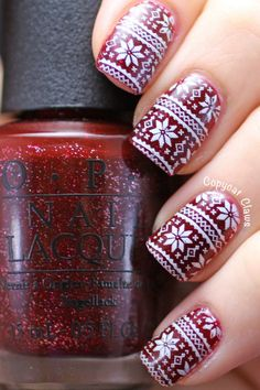 There's nothing ugly about this Christmas sweater-inspired mani — in fact, festive nail art in a seasonal color scheme sounds like the prettiest of winter accessories to us. And if you're thinking that you could never recreate those tiny sweater details on your own, have no fear. It can all be done with the help of a nail stamp. Click through to find out how to do it yourself — and for more gorgeous holiday manicure inspo.
