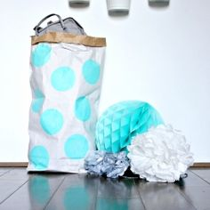 Cinnamon Home - Paper bag with blue dots (CUCC)