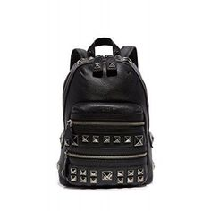 Marc Jacobs Women's Recruit Chipped Studs Backpack, Black, One Size