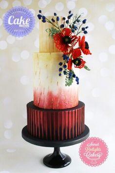 Red black cake