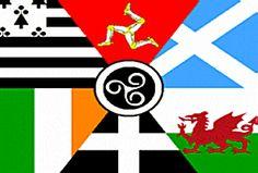 Celtic Nations Flag  Ireland, Scotland, Wales, Cornwall, Isle of Man, Brittany