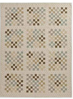 For some reason this quilt talks to me.Life is going to slow down. I want to make a quilt--just because. Scrappy Quilts, Easy Quilts, Mini Quilts, Monochromatic Quilt, Neutral Quilt, 16 Patch Quilt, Quilt Blocks, Low Volume Quilt, Postage Stamp Quilt