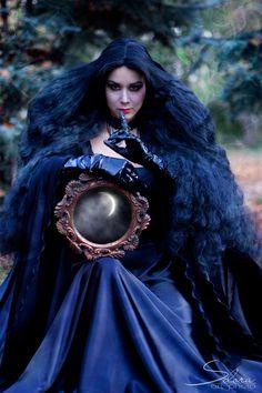 'Moonlight Witch' by Anastasiya Selora.#goth #witches #Halloween #mirror