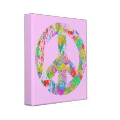 peace ring binder from Malinowski (25 AUD) found on Polyvore