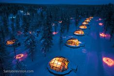 Hotel and Igloo Village Kakslauttanen in Saariselkä in Lapland Finland. More information: www.kakslauttanen.fi