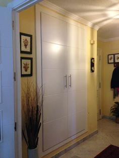 Frente de armario abatible modelo VINCI lacado en blanco