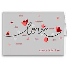 Love hearts text unique valentine gift tag business card size love hearts text unique valentine card reheart Choice Image