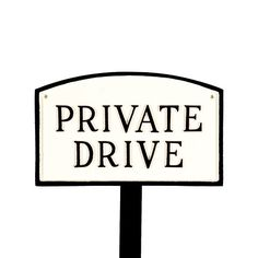 Montague Metal Products SP12smWBLS Small White and Black Private Drive Arch Statement Plaque with 23Inch Lawn Stake >>> Continue to the product at the image link.