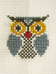 Thrilling Designing Your Own Cross Stitch Embroidery Patterns Ideas. Exhilarating Designing Your Own Cross Stitch Embroidery Patterns Ideas. Cross Stitch Owl, Small Cross Stitch, Cross Stitch Cards, Cross Stitch Animals, Modern Cross Stitch, Cross Stitch Designs, Cross Stitching, Cross Stitch Embroidery, Embroidery Patterns