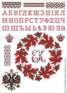 Старинные схемы для вышивания  Алфавит и орнаменты Cross Stitch Borders 676d1c8498b17