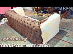 Living Room Sofa Design, Bedroom Closet Design, Furniture Reupholstery, Sofa Furniture, Capitone Sofa, Tuffed Sofa, Diy Furniture Building, Modern Sofa Designs, Modern Leather Sofa