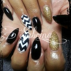 Sculptured nails & gel polish @sabrina_ils Stilettos!Instagram photo | Websta (Webstagram)