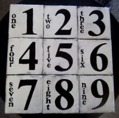 Graphic numbers in black & white